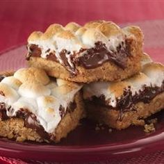S'mores Bars: These are kinda rich, but they satisfy the craving for s'mores!