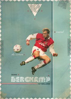 "The Gods Of Football (Part I) by Marija Marković on Behance — Dennis Bergkamp, ""the iceman"", #10, Netherlands"