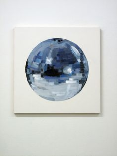 disco ball painting. that is so rad.