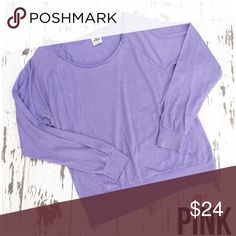 🌟PINK🌟 Purple Long Sleeved Top Top has been gently worn but in great condition. The fabric content is 60% cotton and 40% polyester. PINK Victoria's Secret Tops Tees - Long Sleeve