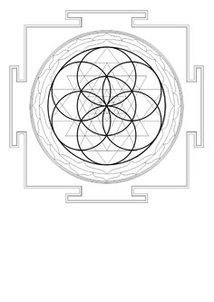 Sri Yantra in Flower of Life