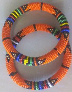 ON SALE African Beaded Bracelets, Zulu bracelets, Masai Bracelets, African Jewelry, Ethnic Bracelets African Beaded Bracelets, African Beads, African Jewelry, Beaded Necklaces, Beaded Earrings, Big Jewelry, Bead Jewellery, Rope Jewelry, Jewelry Ideas
