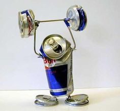 Red Bull gives you wings.and power ;-) Red Bull gives you wings.and power ; Energy Drinks, Tin Can Art, Aluminum Can Crafts, Soda Can Crafts, Pop Cans, Recycled Art, Things To Know, Red Bull, Bull Bull