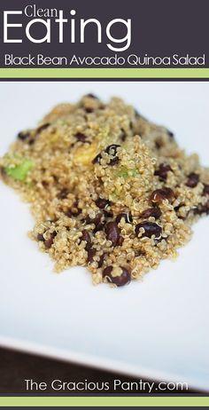 Black bean Avocado Quinoa Salad #GlutenFree