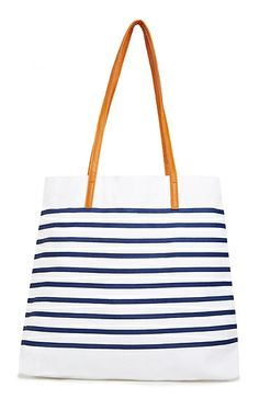 Canvas Striped Tote | DAILYLOOK