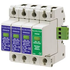 A3SPM/40/230NR - 40kA Three Phase with N/E Module & Remote Connector - Type 2 Test Class II - This modular #surgeprotection #device provides #protection of equipment connected to incoming low voltage AC power supplies against the damaging effects of transient over voltages caused by local #lightning strikes, or the switching of electrical inductive or capacitive loads.