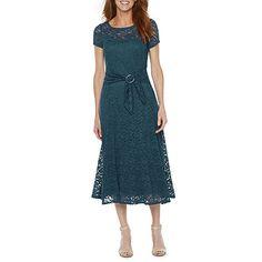 bce33e53492 Perceptions Short Sleeve Lace Fit   Flare Dress Groom Dress
