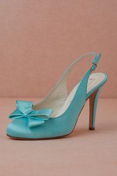 bc6eaa9c32a robin's egg Bow-Topped Slingbacks | BHLDN Blue Wedding Shoes, Wedding Wear,  Bridal