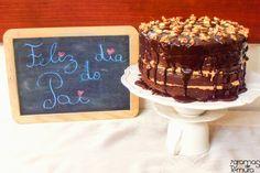 Bolo de Chocolate e Mousse de Amendoim com Torrão - 7gramas de ternura