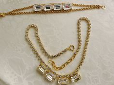 Large Emerald Cut Clear Crystals by PhylmasFabulousFinds on Etsy - $35.00