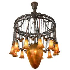 "moorish chandelier | Tiffany Studios ""Moorish"" Chandelier at 1stdibs"