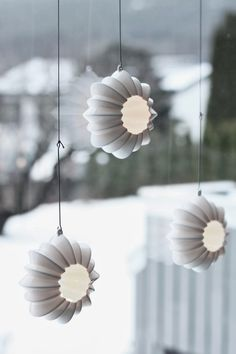 Pretty Stella hanging candle holders from Kähler Design
