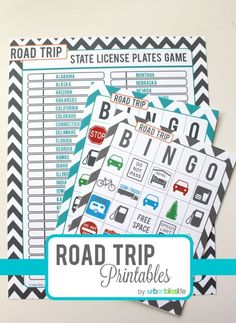 Road Trip Games for Kids - Free Printables! That's because they're playing this road trip game! Road Trip Bingo, Road Trip Games, Nebraska, Idaho, Arkansas, Nevada, Alabama, Road Trip Activities, Fun Activities