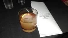 An Old Fashioned and a Hemingway quote at Low Bar from Lifelong Michigander: Tour de Traverse City