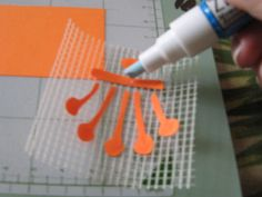 How to use magic mesh (woven drywall tape) to transfer paper images from cutting mat