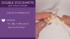 How to Knit the Double Stockinette Pattern with Free Knitting Pattern   Video Tutorial by Studio Knit