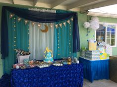 Moon and Stars Theme Boy Baby Shower