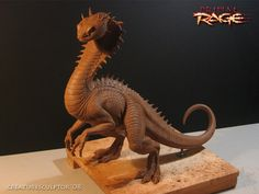 A wicked awesome sculpture from creaturesculptor.blogspot.com of Vertigo, a character from the classic fighting game Primal Rage. Love her unusual, chimeric build.