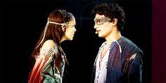 Giulia Luzi (Juliet) and Federico Marignetti (Romeo) in Romeo e Giulietta: Ama e Cambia il Mondo