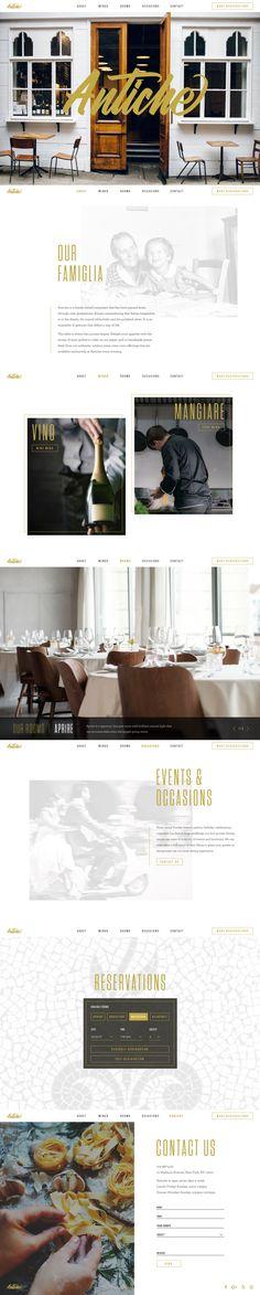 Antiche Restaurant Website & Branding | Full Case Study on Behance | Mark Lundberg | www.marklundberg.co |  #ui #ux #webdesign #website #branding #uidesign #uxdesign