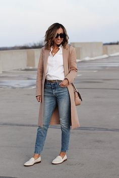 Outfit Loafers, Loafers For Women Outfit, Casual Winter Outfits, Stylish Outfits, Simple Work Outfits, Casual Attire, Outfit Winter, Spring Outfits, Casual Wear