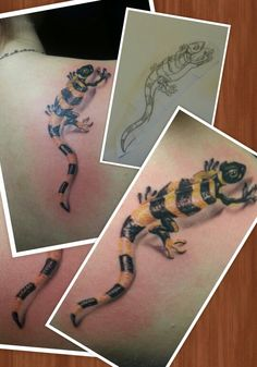 Lizard 3D tattoo