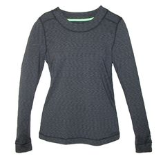 Cuddl Duds Womens Long Sleeve Flex Fit Crew Thumb Hole