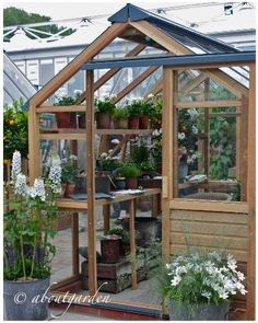 2014 Yard, Garden & Patio Show, the Showcase Gardens. Contemporary Greenhouses, Greenhouse Gardening, Greenhouse Ideas, Potting Sheds, Decks And Porches, Bird Houses, Green Houses, Glass House, Garden Landscaping