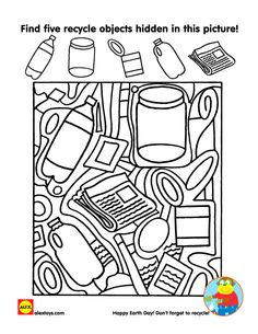 Use our free Earth Day #printable to start a discussion on recycling in your home | alexbrands.com