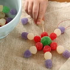 Switch from ornament and use as inspiration to make an atom.  Kiddos would like the candy