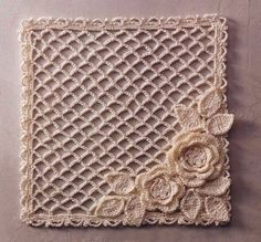 lace-lace-square-motif-flowers... FREE DIAGRAMS for the mesh,flowers,and leaves!!..These would make beautiful coasters!