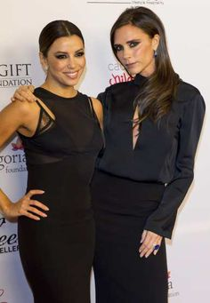 #EvaLongoria and #VictoriaBeckham step out in style at the London Global Gift Gala at #ME Hotel on Nov 19, 2013 in London