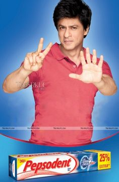 New print-ad *HQ* for Pepsodent of SRK