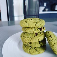Midori Spring Matcha Almond Flour Cookies (Gluten Free mostly Organic) Simple quick tasty cookie recipe. Don't need a mixer can use a flat spatula or larg Almond Flour Cookies, Baking With Almond Flour, Almond Flour Recipes, Delicious Desserts, Dessert Recipes, Sweets Recipe, Healthy Desserts, Easy Desserts, Dinner Recipes