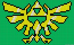 Triforce Legend of Zelda perler bead pattern