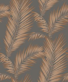 Ardita by Arthouse - Ebony & Copper - Wallpaper : Wallpaper Direct Coral Wallpaper, Peacock Wallpaper, Palm Leaf Wallpaper, Copper Wallpaper, Brick Wallpaper Roll, Feature Wallpaper, Botanical Wallpaper, Embossed Wallpaper, Glitter Wallpaper
