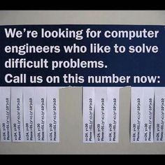 Clever Job Advert (But this problem isn't difficult enough - sincerely, nerd) Job Advertisement, Job Ads, Math Humor, Nerd Humor, Math Jokes, Nerd Jokes, Funny Math, Physics Humor, Math Math
