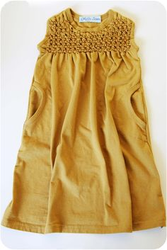 Smocked T-shirt Dress Tutorial.  little girls dress, but great smocking…