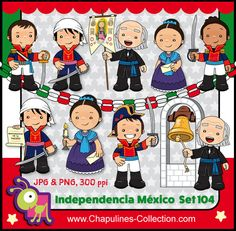60% desc. Clipart Independencia de México por ChapulinesCollection