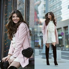 Girlish look for a spring day in winter today on my blog: http://themysteriousgirl.ro/2015/01/a-bit-of-spring-in-winter/