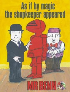 Mr Benn was my favourite show and I failed to realise how few episodes there actually were of this genius creation. 1980s Childhood, My Childhood Memories, Memories Jar, Cartoon Tv Shows, Cartoon Characters, 70s Cartoons, Pop Art, Kids Tv, Old Tv Shows