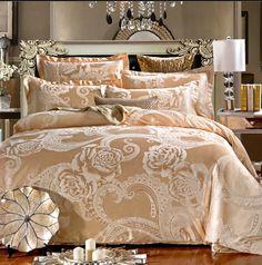 Tencel Jacquard de cetim de seda roupa de cama jogo de cama de luxo Rainha king size roupa de cama capa de edredão set consolador nobre de Alta Qualidade em Conjuntos de cama de Home & Garden no AliExpress.com | Alibaba Group