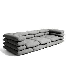 Sofá de almofadas.