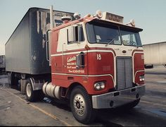I didn't see too many single axle tractors in long haul service, but here is on sitting at the 76 truck stop in Milwaukee, Wis back in Nov. 1973.   {Take a look  Inexpensive prices on quality Commercial Truck Tire Pressure Monitoring Systems