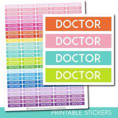 Doctor stickers, Doctor planner stickers, Doctor printable stickers, Medicine stickers, Doctor sticker, Health stickers, STI-237