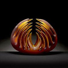 Pismo Fine Art Glass- Amber Bloom