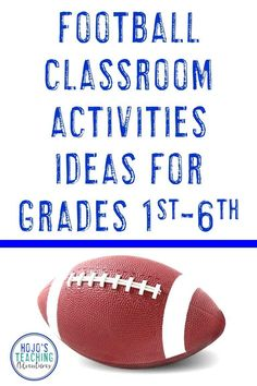 Find great football classroom activities here! Celebrate football season in the fall for your local high school team, or use these ideas to celebrate college or NFL football in the classroom. They also work well for the Super Bowl! Reading, math, social studies, writing, and other random ideas are all included in one convenient post. Many of the ideas are FREE! Great to use with your 1st, 2nd, 3rd, 4th, 5th, or 6th grade classroom and homeschool students! {football freebie} Reading Recovery, 5th Grade Classroom, Critical Thinking Skills, Special Education Teacher, Classroom Activities, Football Season, Nfl Football, Math Centers, Fourth Grade