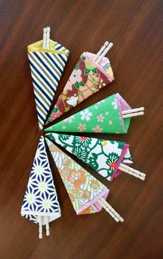 Toothpick holder #origami #DIY #howto