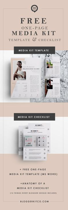 Need a Media Kit? Here's a Free Media Kit Template + Checklist for Bloggers and Creatives!
