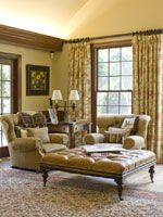 Elegant sitting area in office space  Newnan Interior Design